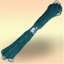 Шнур универсальный 50 м, диаметр 4 мм, цвет черно-зеленый