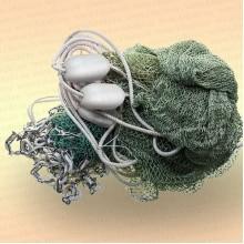 Бредень с цепью для раков длина 10 м, ячея 20 мм