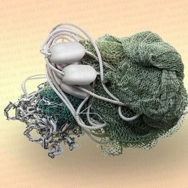 Бредень с цепью для раков длина 15 м, ячея 20 мм