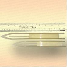 Челнок для сетей, белый B2 205 мм x 16 мм