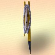 Донная удочка желтая с белой резинкой, леска 30 м