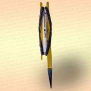 Донная удочка желтая с черной резинкой, леска 30 м