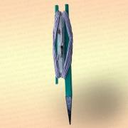 Донная удочка зеленая с белой резинкой, леска 50 м