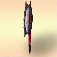 Донная удочка красная с черной резинкой, леска 70 м