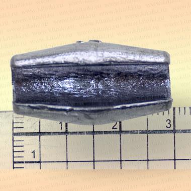 Грузила с разрезом для сетей коническое, упаковка 10 шт., 25 гр. 31 мм, диаметр отверстия 6 мм