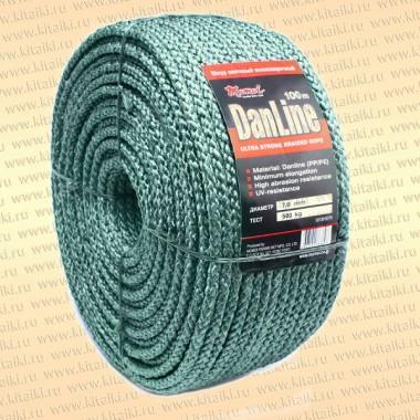 Шнур Danline, плетеный, бухта 100 метров, 5,0 мм, 320 кг