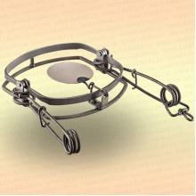 Капкан охотничий металлический тарелочный, витая пружина Сибирь-МТ-5