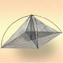 Хапуга-подъемник для лова рыбы 1,6 м, леска