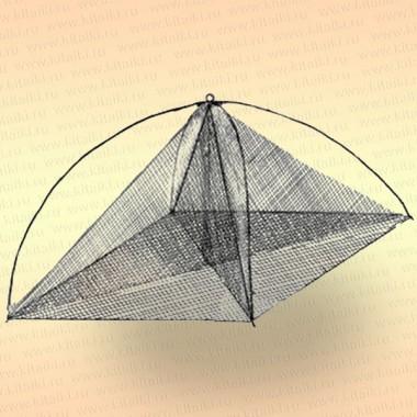 Хапуга рыболовная с косынкой 1,15 х 1,15 м, ячея: сетки -16 мм, косынок - 18 мм