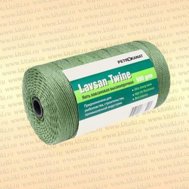 Лавсановая нить темно-зеленая, 1,5 мм, 20s/27 тест 35 кг, 500 гр