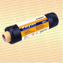 Нитки Polytex 210 den/60, 2,00 мм, 100 гр, чёрная
