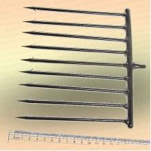 Инструмент для очистки водоема 2D зуб - 6 мм, 9 зубьев