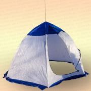 Палатка зимняя Зонт 8618, бело-синяя, без дна 2,0х2,0 м х1,6 м