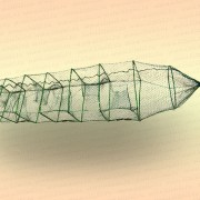 Раколовка гармошка 11 входов 30 х 25 см, длина 4 м, усиленная