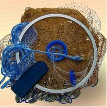 Кастинговая сеть Китай, с малым кольцом, капрон, радиус 2 м