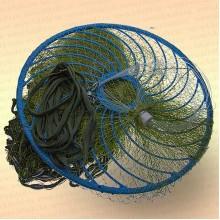 Кастинговая сеть, капрон, американский тип, ячея 28 мм, с большим кольцом диаметр 6,0 м, радиус 3,0 м