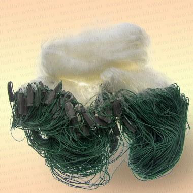 Сеть одностенная, высота 3,0 м, длина 60 м с нижним шнуром, ячея 40 мм