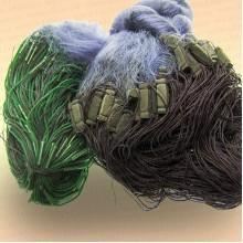 Сеть одностенная, высота 1,8 м, толстая леска, цвет синий ячея 70 мм