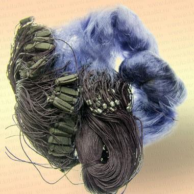 Сеть одностенная, высота 1,8 м, цвет синий, ячея 80 мм