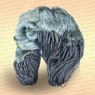 Сеть трехстенная с финскими шнурами: ячея 40 мм высота 1,5 м, длина 30 м капрон 210D/2