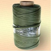 Шнур плоский ширина 10 мм, на бобине 200 м, цвет: хаки
