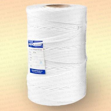 Шнур плетеный Стандарт, на бобине 500 м, диаметр 1,8 мм, цвет - белый