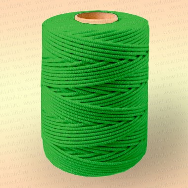 Шнур плетеный Стандарт, на бобине 500 м, диаметр 2,0 мм, зеленый