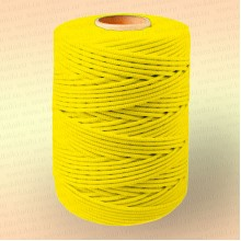 Шнур плетеный Стандарт, на бобине 500 м, диаметр 3,1 мм, желтый