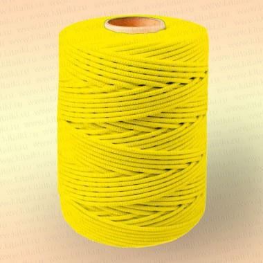 Шнур плетеный Стандарт, на бобине 500 м, диаметр 2,0 мм, желтый