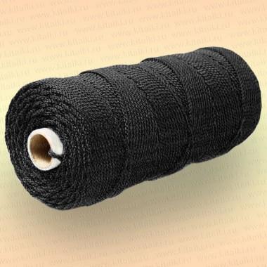 Шнур плетеный Стандарт, на бобине 220 м, диаметр 1,5 мм, черный