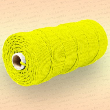 Шнур плетеный Стандарт, на бобине 200 м, диаметр 1,8 мм, желтый
