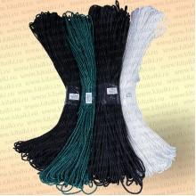 Плетеный шнур рыболовный, капроновый шнур для рыбалки, диаметр 4,0 мм, цвет черный