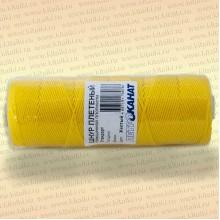 Шнур плетеный Стандарт, на бобине 50 м, диаметр 1,2 мм, желтый