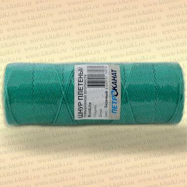Шнур плетеный Стандарт, на бобине 40 м, диаметр 1,5 мм, зеленый