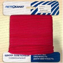 Шнур плетеный Универсал, карточка, 3,0 мм, 20 м, красный