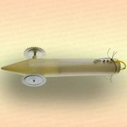 Торпеда для протяжки сетей подо льдом Пластик, со светодиодами 0,06 Вт