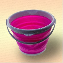 Складное ведро для рыбалки, 10 литров, розовое
