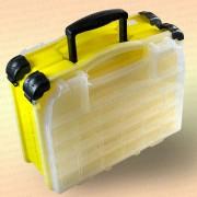 Ящик рыболовный, двухсекционный, желтый