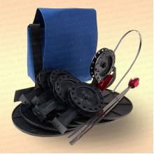 Жерлицы на судака, оснащенные в сумке 5 шт, катушка 63 мм, стойка алюминиевая