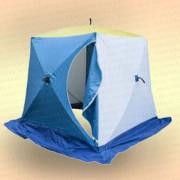 Палатка для зимней рыбалки Стэк Куб 2,2х2,2х2,05 м, 4-местная, цв. бело-синяя